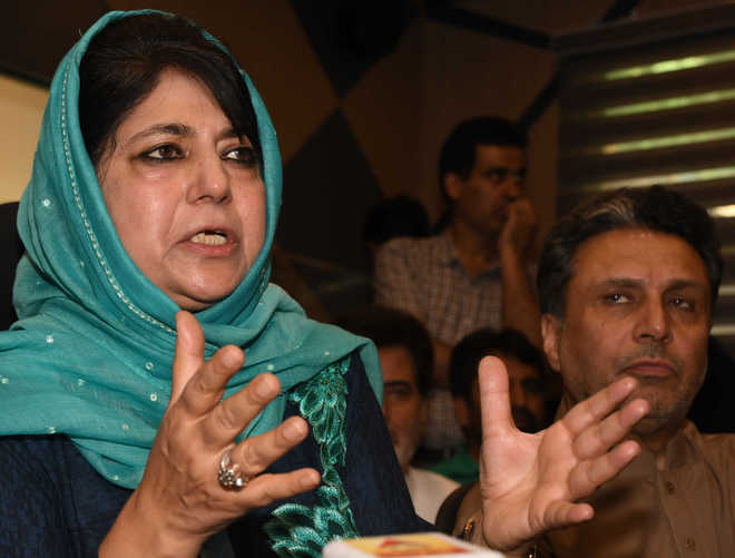 Start dialogue with Pak to stop violence: Mehbooba Mufti