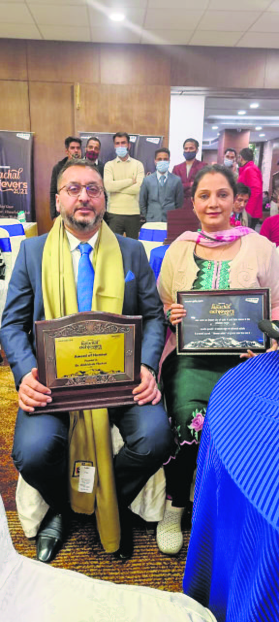 Doctor couple of Hamirpur  awarded