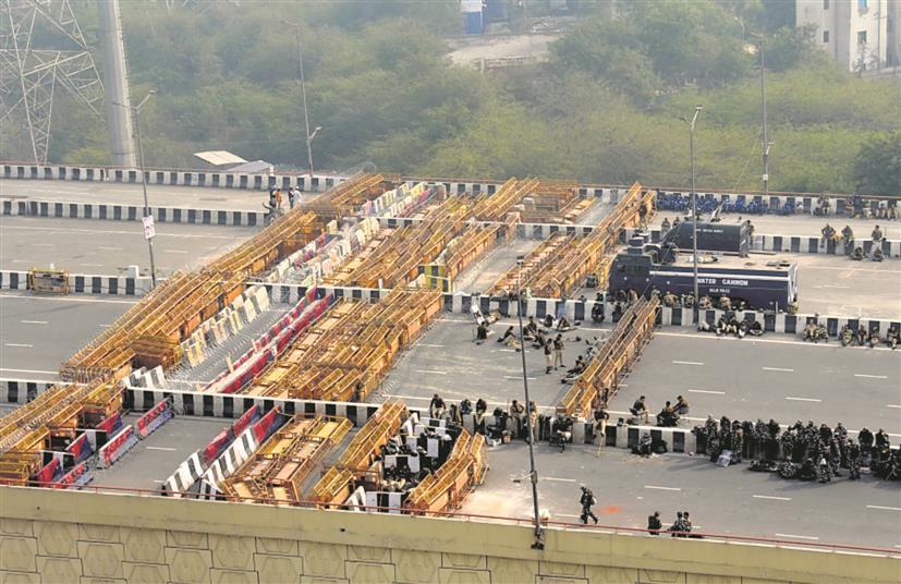 10-tier barricading at Tikri border