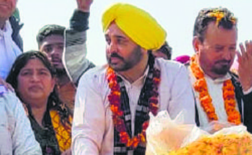 Campaigning in top gear at Patiala