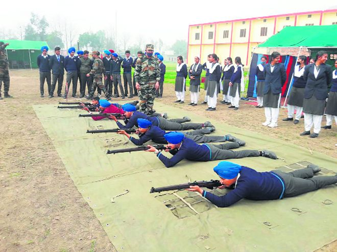 Students attend NCC firing range camp