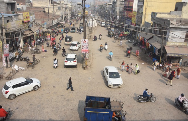Traffic chaos rules Basti Jodhewal Chowk