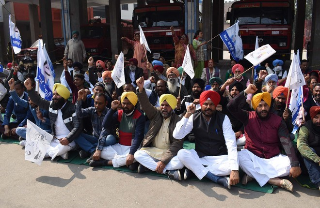 AAP protests 'bogus voting'