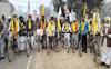 Bathinda farmers pedal to Delhi protest sites