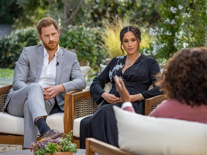 In Oprah Winfrey interview, Meghan Markle says British royals pushed her to brink of suicide