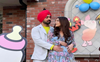 Shehnaaz Gill cradles baby bump as Diljit Dosanjh stares into her eyes; see 'Honsla Rakh' new poster