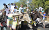 Akali MLAs ride to Punjab Assembly on bullock carts