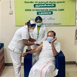 Prominent leaders take COVID vaccine with start of next phase