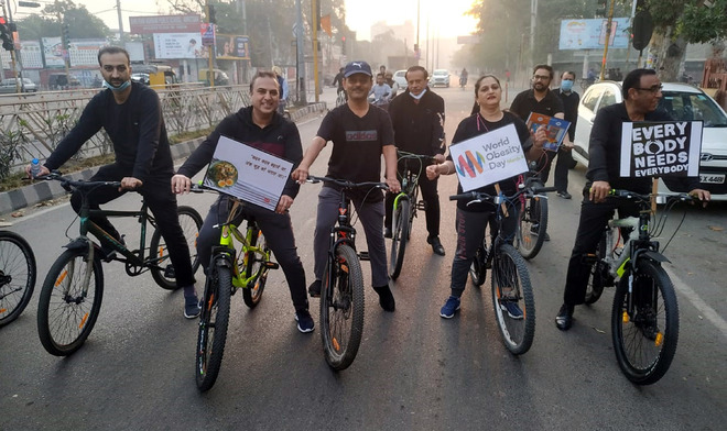 Paediatricians pedal for a cause