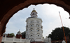 Guru's legacy muralled on wall in Gurdwara Baba Attal Rai