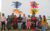 Wall paintings spread cleanliness message