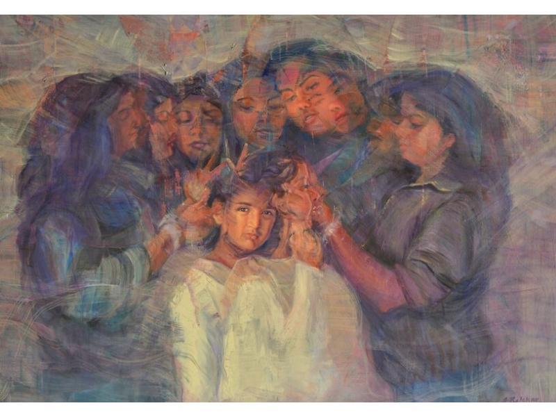 Indian artist, Sonal Relekar-Ramnath's 'Sisterhood' heads for the Moon
