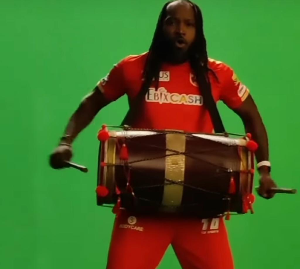Chris Gayle plays 'dhol' while grooving to Tunak Tunak Tun; Punjab Kings share clip