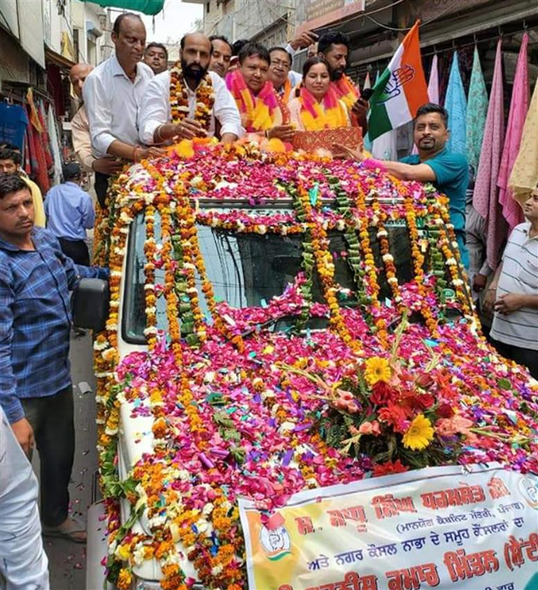 At Nabha MC chief's victory procession, norms go for toss