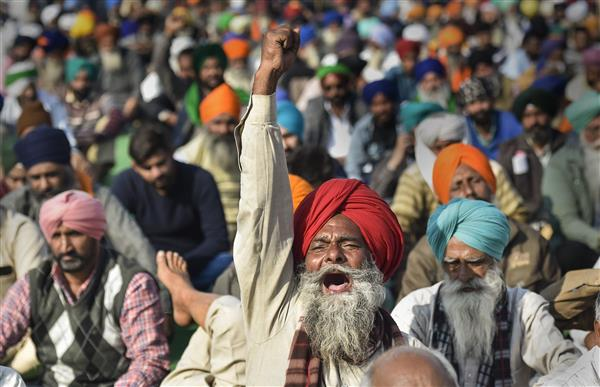 Patiala: Farmers protest at BJP campaign site in Tripuri area