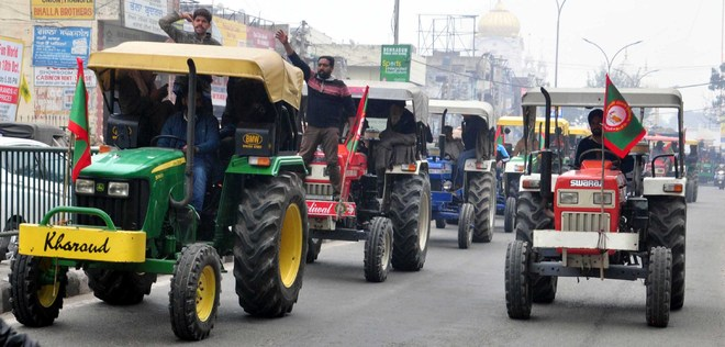 Farmers' protest: Tractor march in Patiala on April 30