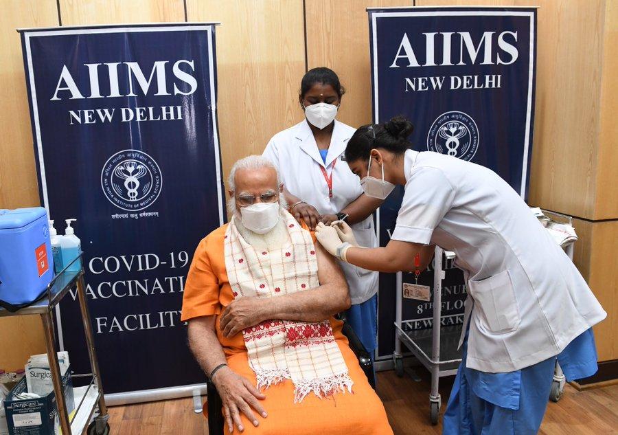 PM Narendra Modi gets second dose of Covid vaccine