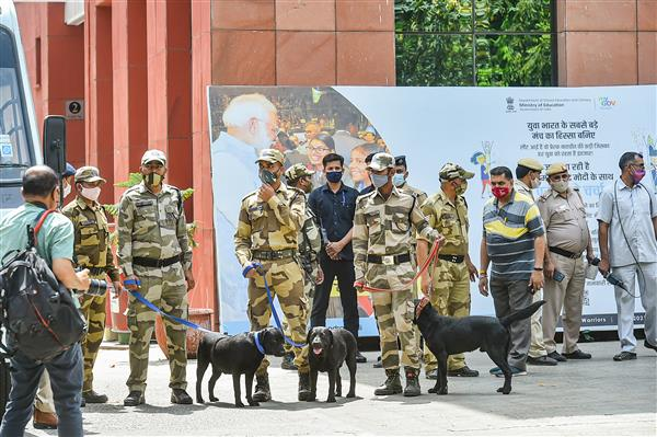CISF, other agencies conduct bomb detection drill near media centre in Delhi