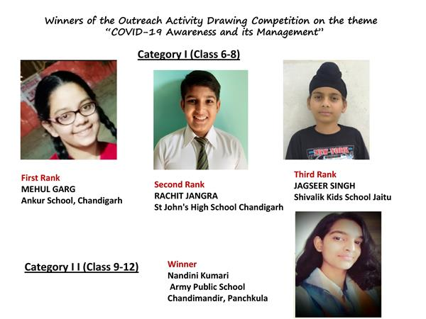 Winners of drawing competition felicitated