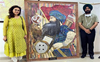 Amritsar artist Smiley Chowdhary creates art from waste
