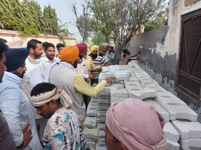 Amargarh MLA inspects development works
