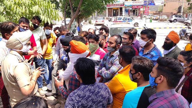 Teams collect samples at Dhakoli schools