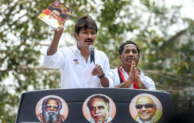 Stalin's son at it again, links Ganguly ill-health to BJP