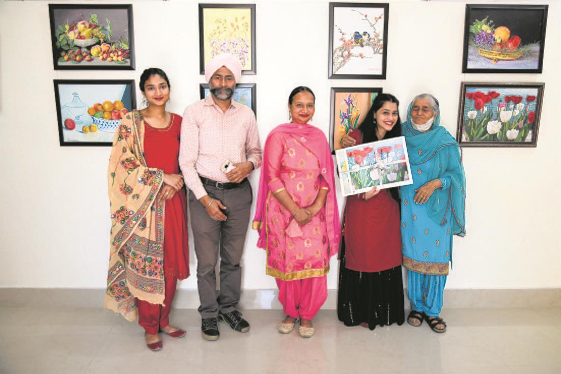 Gurcharan Kaur displays her works at Sobha Singh gallery