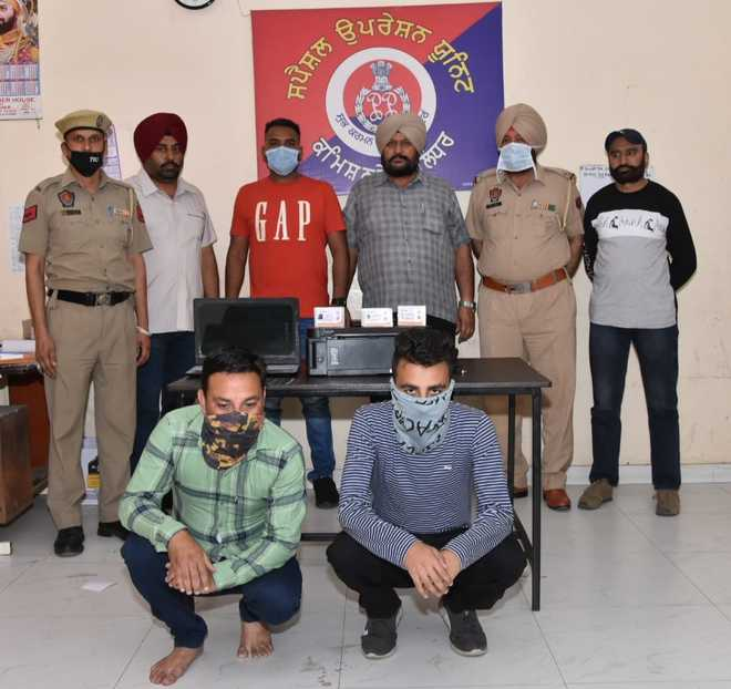 Father-son duo held for selling fake Ayushman Bharat cards