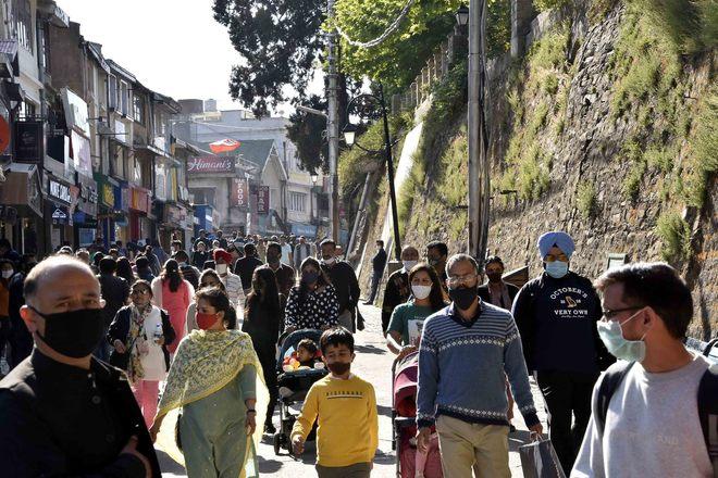 Tika Utsav: Tourists can get jab while roaming on Shimla's Mall Road