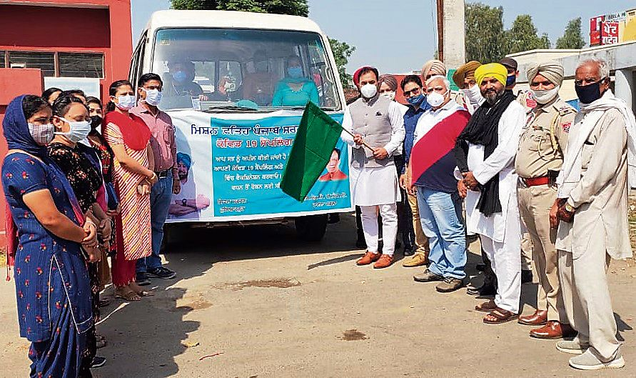 MLA Dr Raj Kumar Chabbewal flags off mobile vaccination van