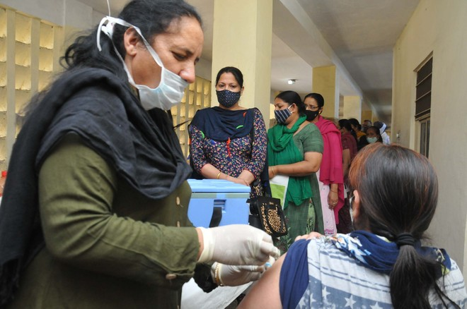Covid vaccination drive for those above 45 gains momentum in Jalandhar
