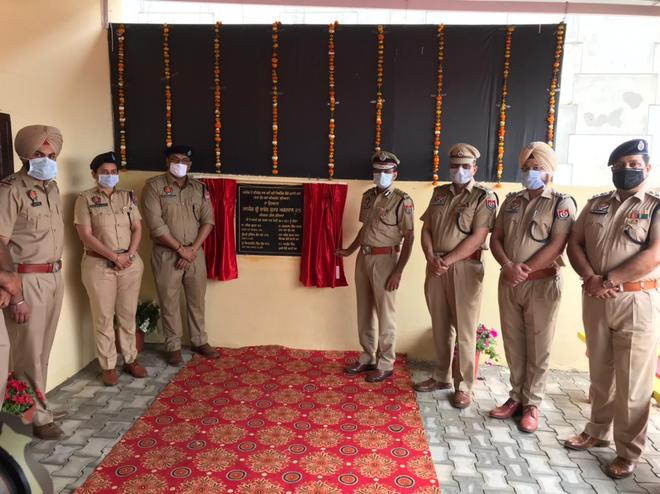 Police post constructed with public funds at Ludhiana's Katani Kalan