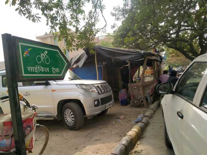 Faridabad's only cycle track non-functional