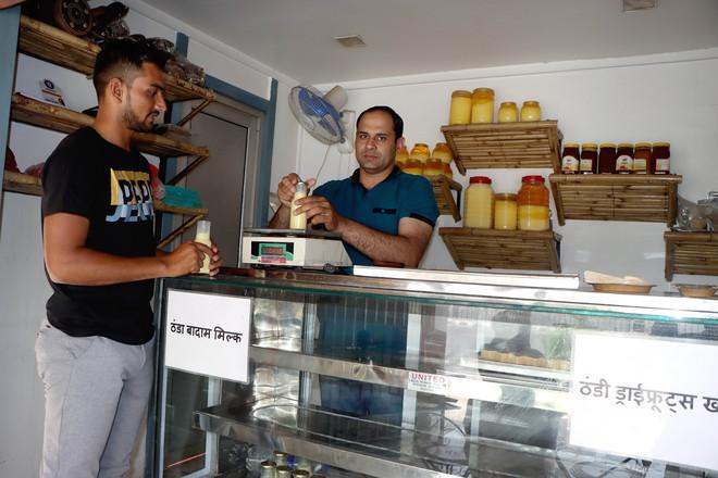 Charki Dadri man quits job to open milk parlour