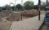 Dug-up traffic island poses threat to commuters' lives in Ludhiana