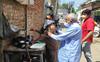 Minister Om Prakash Yadav refreshes memories with tea seller in Narnau city