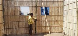 Farmers' protest: To beat the heat, bamboo huts come up at Singhu border