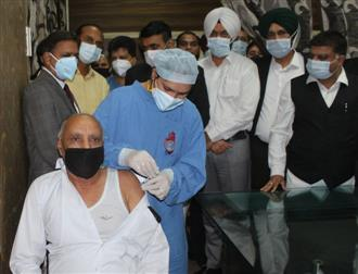 Covid vaccination camp begins at Ludhiana courts complex
