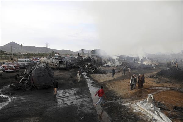 Roaring tanker fire kills 7, injures 14 in Afghan capital