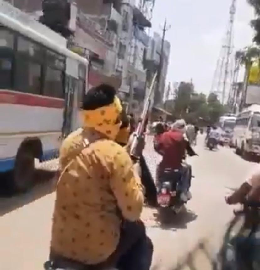 On video: Bikers vying for road supremacy fire shots in air in Madhya Pradesh