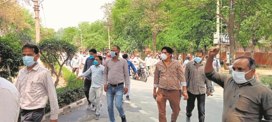 No salary for a month, Rohtak PGIMS staff protest
