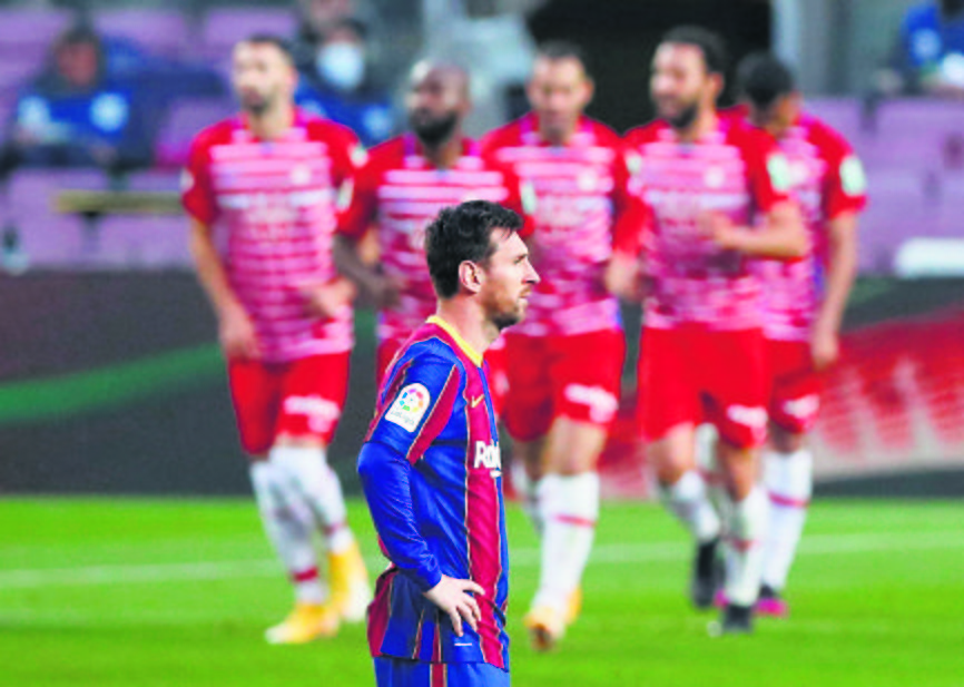 Granada blow to Barcelona hopes