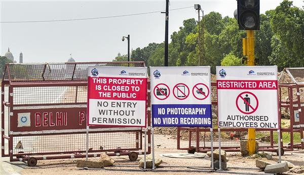 Photography, video recording prohibited at Central Vista construction site