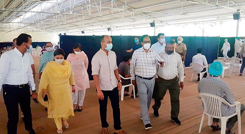 Vaccination camp at Satsang Ghar