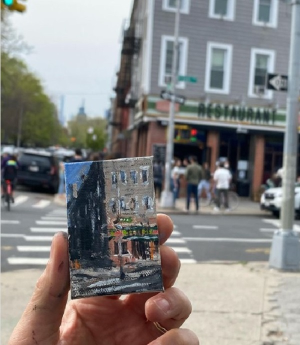 Brooklyn artist hides 'mini masterpieces' for neighbourhood residents to find