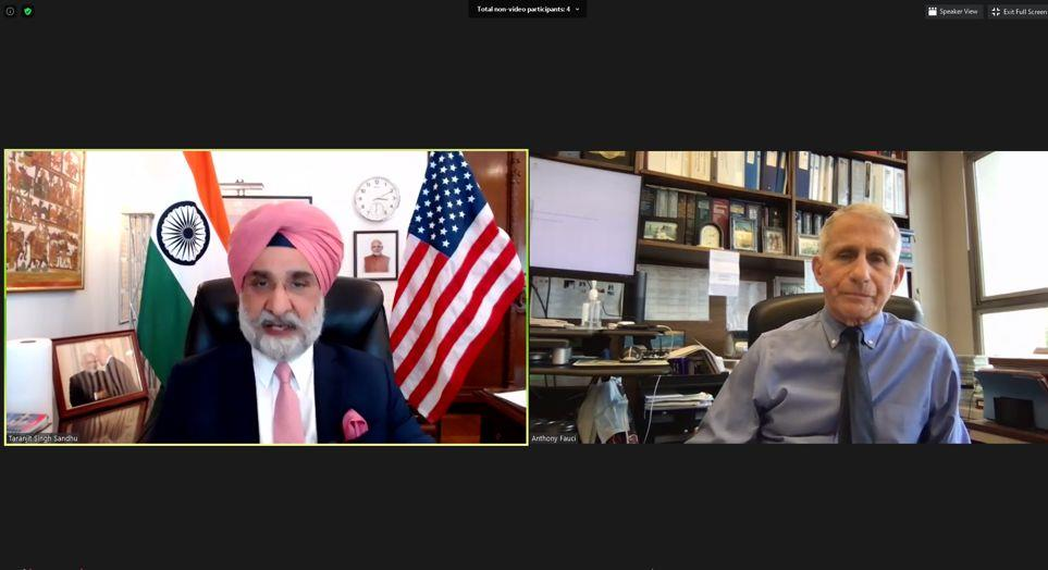 India's US envoy meets Dr Fauci, discusses Covid crisis, new strains and variants