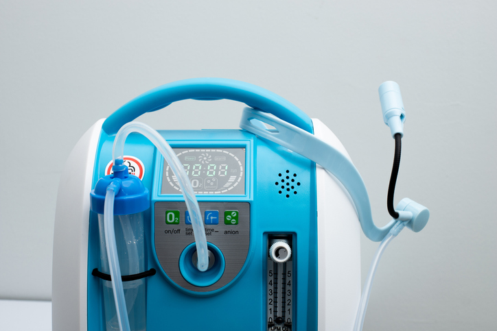 Oxygen concentrator bank set up for Covid patients