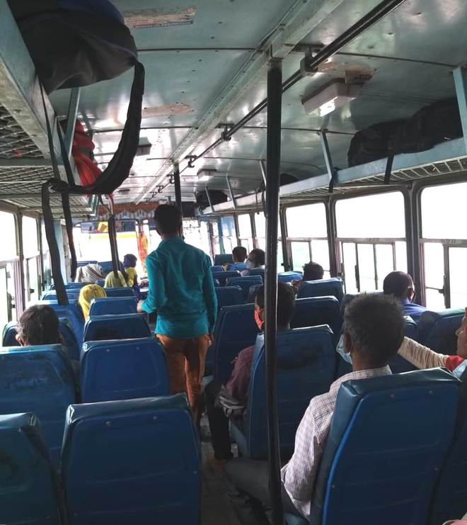 Limited passengers, Covid restrictions leave private bus owners high and dry in Haryana