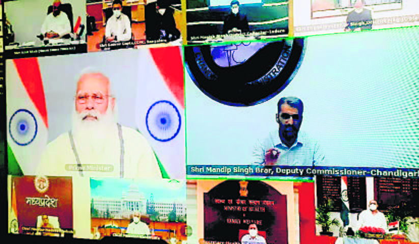 Chandigarh's Covid fight draws a pat from PM Modi